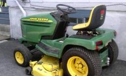 2002 John Deere GT245 Lawn Tractor, Has mulching deck and discharges in the middle back of the deck between the back wheels. Has 20 HP 2 cylinder Kawasaki gas air cooled engine. Machine has been well maintained. Asking $3000 783-2014