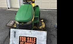 2010 John Deere X320 Lawn Tractor with 48 inch mower, snowblower attachment, snow cab for over the tractor plus chains and weights for tires when snowblower is on. Moving and will not be taking with us.