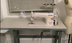 Juki Industrial Sewing Machine Regular Retail is 795!! Only 1 year old and 10/10 condition. Must go ASAP. Price is Negotiable