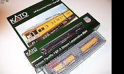 Please call me at 585-227-9864 N Gauge KATO FEF-3 Union Pacific Steam Excursion Train. Includes Locomotive and Fuel Tender, 2 Water Tenders, 7 Passenger Cars - New in 3 original unopened boxes This a new LIMITED EDITION Release!! First Steam Locomotive