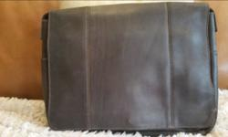 New - Never Used -Original Tags Dark Brown Leather Size 16 x 12 1/2 x 2 Imported from Columbia Includes Shipping