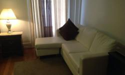 leather sectional couch in excellent condition just 8 months old pet and smoke free