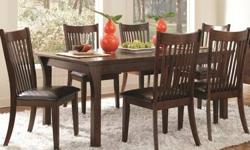 Free shipping within the 5 boroughs of NYC ONLY! All other areas must email or call us for a freight quote. TOLL FREE 1-877- 336-1144 Description Accommodate an array of dinner party sizes with this versatile seven-piece oval dining table and chair set.