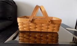 Longaberger Market Basket small, size 14'', protector is included. Buyer pays all shipping costs in addition to the cost of the basket.