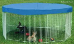 Used Marshall 11-panel Ferret/small animal playpen with blue mat/cover. Playpen in good condition with normal wear/scratches on the bars; the cover is like new. Comes in original packaging. Paid over $90 new, asking $45.00. Cash & carry only please.