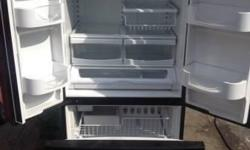 Black like new May-tag 22cf. French doors with pull out freezer. Pop out crisper drawer. Must see. Text 6072074564