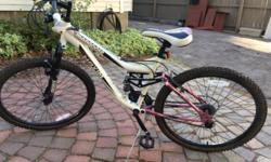 Up for sale is a very nice Mongoose Mountain Bike. 21 -speed. Upgraded handlebars, and gear shifters. Ergonomic grips. 26 inch wheels. This bike has only been ridden around the block a few times. We are moving out of the country and cannot take it with