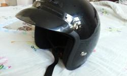 USED XXL SIZED CL-5 MOTORCYCLE HELMET. BLACK COLOR IN GOOD CONDITION 347 536-0954