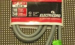 New 5 foot Electric Dryer Cords Indoor grounded clothes dryer supply cord kit Cords are designed for use with most standard free-standing electric dryers Manufactured by Electricord (a Leviton Company) 10 Gauge 30 Amps Reasonable prices Call 716-484-4160