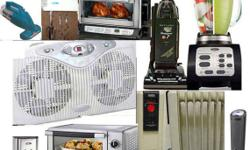 home appliances never-used still in box, griddler by Cuisinart grill style GR-4N or George Foreman GRP4EMB Black Evolve Grill just $75 each; compact size Cuisinart wine bottle chiller cooler CWC-800 for only $1 0 0. 0 0; blender and chopper Oster BVCB07-Z