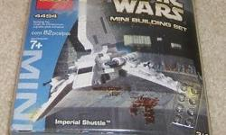 NEW Unopened Star Wars Lego Imperial Shuttle Mini Building Set Released in 2003 the Lego 4494 comprises 82 pieces and one mini figure of a Lambada class Imperial Shuttle. Get a realistic feel while building this Star wars game as its wing moves up and
