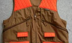 New orange hunting vest for sale size 3x. Used for rabbits and birds holds shells too . I only used it once very clean Txt 315.955.5021 if intrested Asking $50 obo may trade other hunting/ fishing gear. Some electronics also looking for a pair of Oakley