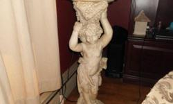 beautiful cherub pedestal stands 3 feet tall. this is sous la vigne.