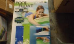 "POOL FLOAT ULTRA COMFORT , SMOOTH SOFT TOP SURFACE WITH WAVY GROOVES THROUGHOUT ALSO ON PILLOW FOR EXTRA COMFORT, RESISTANT TO ELEMENTS,POOL FLOAT IS UV,CHLORINE,MOLD AND MILDEW RESISTANT 2 1/4"" THICKNESS,"