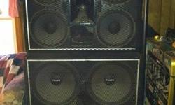 "State of the Art Complete Professional DJ Sound System. Community Speakers the MOTHERLOAD four boxes 8 -15"" subs 8 - 12"" mid-base with horns and tweeters. Carver 1800 watt amp. Pro Gemini mixing board, Pro Gemini dual cd player, Pro wireless mic system."