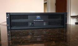 Barely used ISA 300 amp. 2 channels 280 watts at 4 ohms or 185 watts at 8 ohms. It can be used to drive House or monitor speakers for live music, or it can also be used to drive a 25/70/100 volt PA systems up to 300 watt load. It was used as a monitor amp