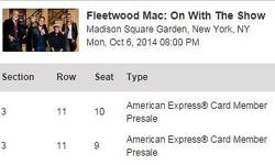 Selling 1 to 2 tickets for Queen of the Night in NYC October 25, 2014 at face value: $195!!