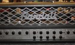 New Old Stock, discontinued model. Perfect condition. All-tube 50W amp head offering a vast range of tones, with a user-friendly bias section to swap tubes quickly and easily. The Randall RT503H tube amp head from the RT series is an extremely flexible,