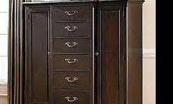 I am selling a Belmont Master Chest Dresser. Its condition is like Brand New, No Scratches or any imperfections noted to the body of the Chest. Plenty of space for all your clothes, Area for men to hang their ties or belts, Jewelry drawer and plenty of