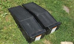 "heres a like-new set of ""RHINO RAMPS""plastic car ramps..rated @ 3k # each,(6k/pair)please call"
