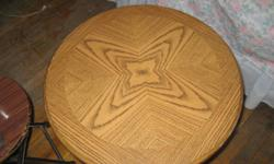 Round Table - $20 Used Round Table Oak finish queen anne style leggs use it as end table or side table