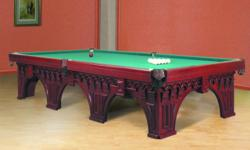 Pictures show different variations of the table. Please email us or call at 224-628-2921 with your questions about the table before you place your bid ! Thank you. Baltic Billiards, Inc. This is a flagship of our classic collection billiard tables. Here