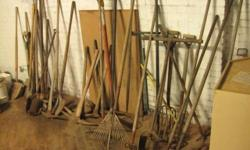 Shovels, Rakes, Picks, and other Garden Tools Big selection Reasonable prices Call 716-484-4160 Or stop by: Atlas Pickers 1061 Allen Street Jamestown, NY Open Monday-Friday 8AM to 4PM