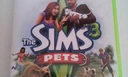 I am selling my game Sims 3 Pets, it is for the Xbox 360. I bought it at Game Stop when it first came out, I only have played it once. My reason for selling it is don't have the time to play it. Perfect condition.