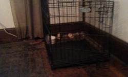 I have a small dog crate for sale. Great condition. $60 obo