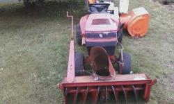 snowblower attachment for riding lawn tractor asking 250.00 obo also willing to trade for something equal to worth...call Ray @ 1-315-778-6236....