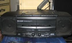 portable Stereo/CD/dual Cassette/Radio - Sharp - $70 (elmhurst, queens) Description: Almost New! excellent condition! dual cassette CD player on top radio