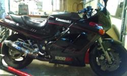 1987 Kawasaki gpz1000rx vintage very fast.fastest production bike in 1987.1000rx rate bike not a scratch.piped and jetted no restrictions.shipped straight from Japan.see.inq.only .garage kept plasticts perfect.24 valve dual overhead can. Two carbs.600$