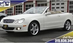 One look at this stunning CLK 350 Cabriolet shows you that you have found an amazing automobile. This CLK is equipped with everything that you will need in a four season luxury car including heated seats, heated mirrors, adaptive xenon lights with