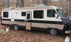 1983 Titan-Champion Chevy P-30 Class A Motorhome. Good condition. 27 feet. 427 cu in motor that has been tuned and runs great, on board onan generator, good tires, and new batteries. 60,800 miles. Plumbing is good, sinks, shower, and toilet all work.