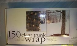 Clear, Tree Trunk Wrap Lights. 1-Box = $3.oo *OR* all 4-Boxes = $10.oo Pick-Up Irondequoit, NY 14622