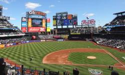 This listing is for a pair of season tickets in one of the best locations in Citi Field for the money: Caesars Box Section 326, in Row 2 on the home-side aisle (seats #1 and #2). These are the club seats on the 3B side, they are always in the shade even