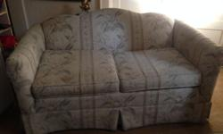 Loveseat sofa in good condition with super comfy cushions. Has a slight stain on one cushion. Price is negotiable