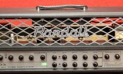 Used, one owner, NEVER gigged. Mint condition. All-tube 50W amp head offering a vast range of tones, with a user-friendly bias section to swap tubes quickly and easily. The Randall RT503H tube amp head from the RT series is an extremely flexible, all-tube