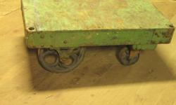 "Vintage Wood and Steel Cart 38 1/2"" x 24"" x 14"" Good working condition $ 250.00 Call 716-484-4160. Or stop by: Atlas Pickers 1061 Allen Street Jamestown, NY Open Monday-Friday 8AM to 4PM"