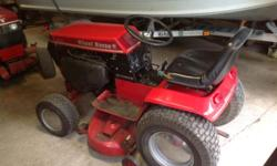 17 HP Kohler - Series II -- twin cylinder engine - automatic 1285 hrs. Solid 42 inch deck with hydraulic lift Runs great! Engine is very strong. Lights all work Original paint. Deck has some surface rust but is in good shape. Tires are good.