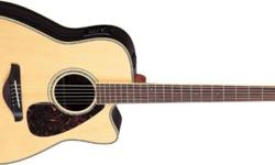 The APX series has always placed emphasis on playability, stylish thin body profile and cutting edge electronics. The Yamaha APX700II Thinline Cutaway Acoustic-Electric Guitar offers upgraded cosmetics, solid Sitka spruce top, revamped A.R.T. preamp and