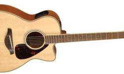 The FGX730SC acoustic guitar offers great features, including a cutaway body with a Solid Sitka Spruce top, rosewood back and sides, and a rosewood fingerboard in a beautiful hi-gloss natural finish. With FGX730SC you have the option of plugging into a PA