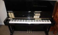 Yamaha U3, 52? Studio Upright, Ebony This piano has been completely refurbished in 2014. The Yamaha U3 is absolutely stunning, and is one of the most popular studio uprights made. This piano has been refurbished, regulated and tuned. It is in excellent