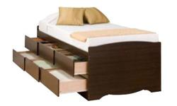 www.allfurnitureusa.com Product description: Now here is a bed that looks very modernistic yet exceedingly comfortable. The solid wood frame with the high headrboard which has been covered with cushioned and tufted leather will make a statement in any
